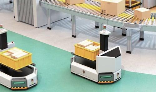 AGV on factory floor