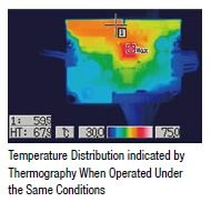 Conventional driver temperature distribution