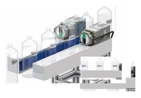 Grip conveyor with 2 BL motors