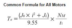 Common acceleration torque formula for all motors