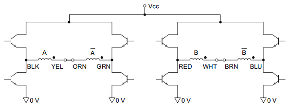 Bipolar-series stepper motor driver circuit