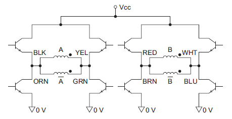 Bipolar-parallel stepper motor driver circuit