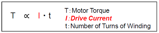 How is torque derived for a stepper motor
