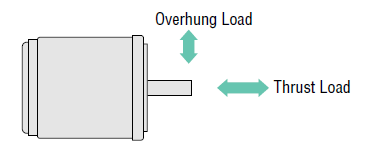Overhung load and thrust load of a motor
