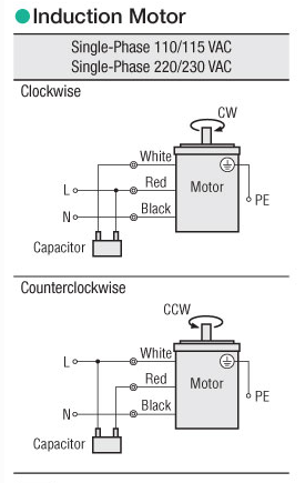 AC PSC 3 wire motor wiring diagram