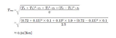 RMS torque calculation example