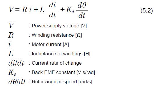 brushless motor voltage formula