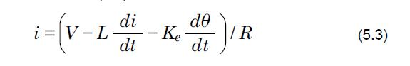 Motor current formula for brushless motors